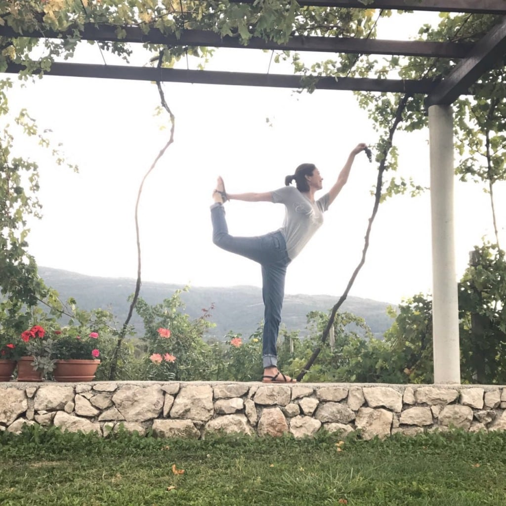 Yoga in the vineyards