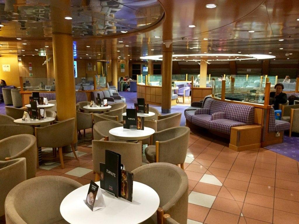 Business class inside Blue Star Ferry