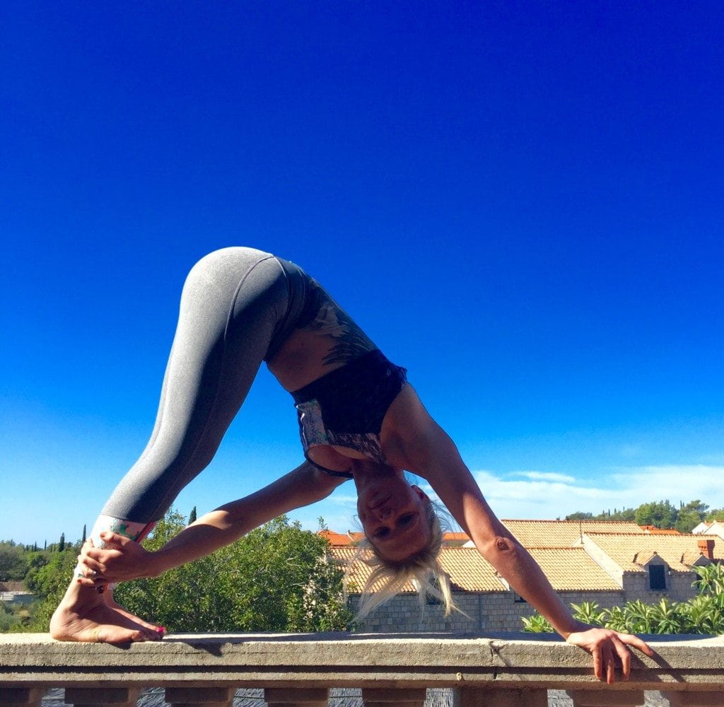 Downward dog with a twist