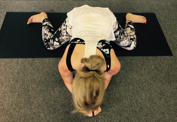 Frog pose - an advanced posture for the hip joint.